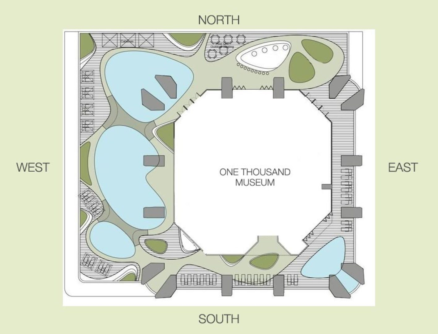 One Thousand Museum Siteplan Luxury Waterfront Condos In
