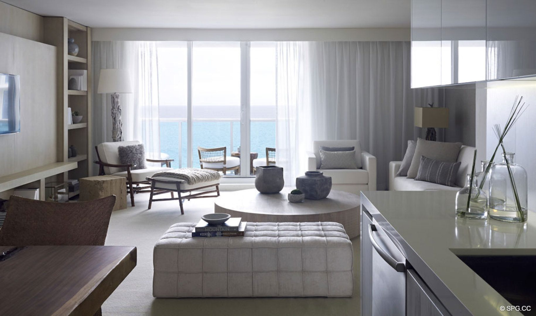 1 hotel homes luxury oceanfront condos in miami beach for W living room miami