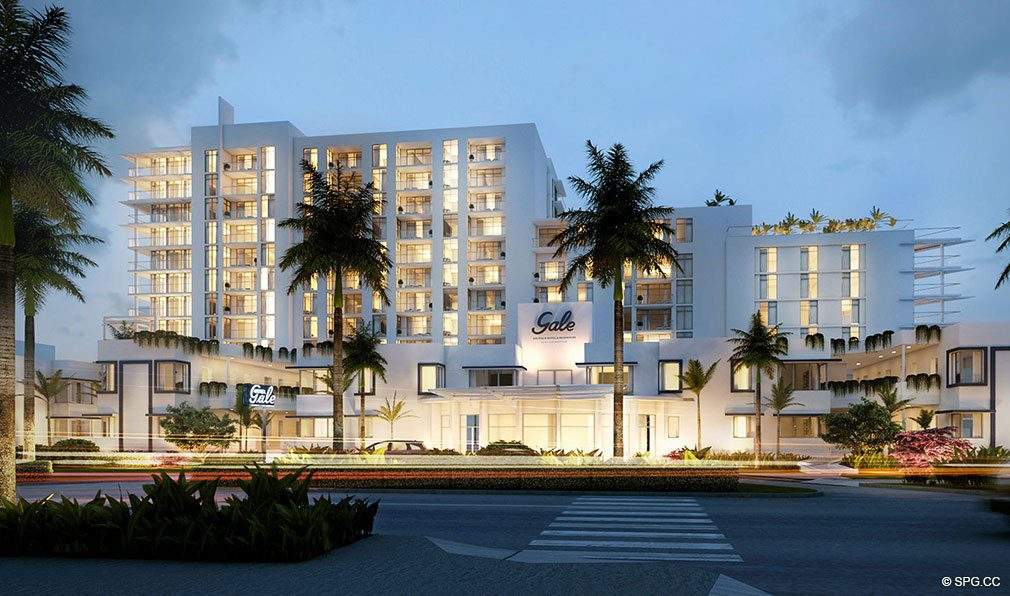Street View Of Gale Hotel And Residences Luxury Waterfront Condos In Fort Lauderdale Florida