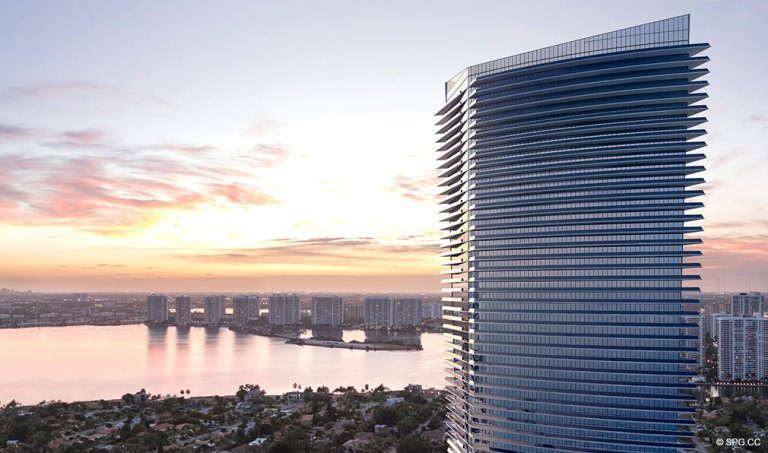 Intracoastal View from the Residences by Armani Casa, Luxury Oceanfront Condos in Sunny Isles Beach, Florida 33160