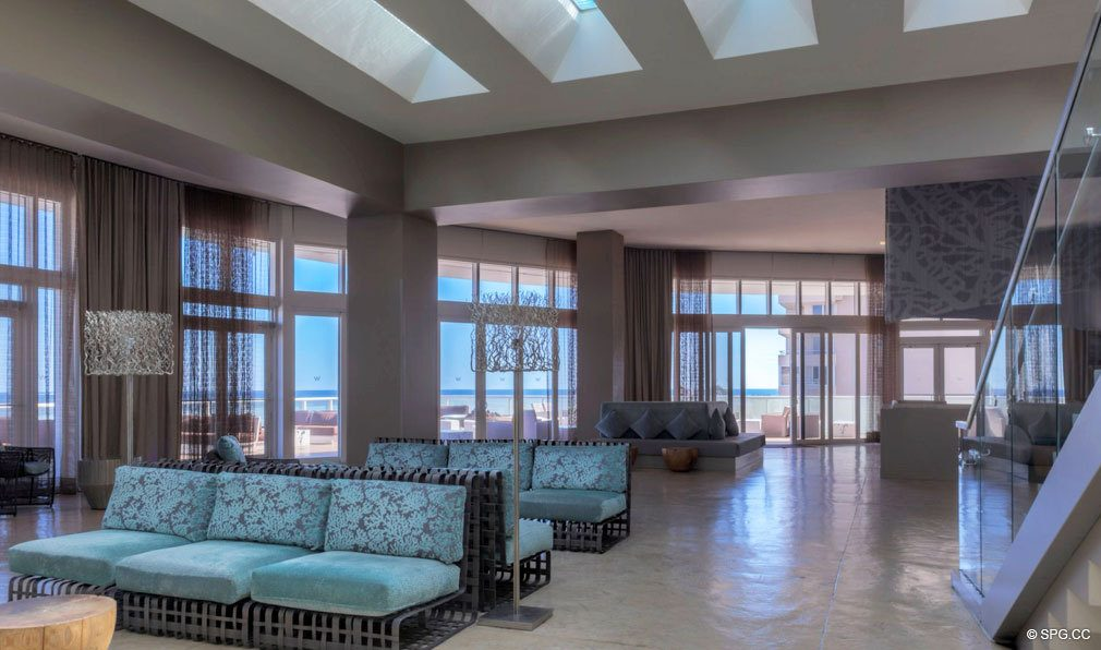 Beautifully Decorated Lobby At The W Fort Lauderdale Luxury Oceanfront Condos In