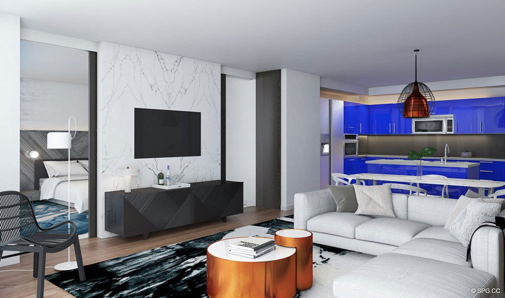 Living Room Layout In The W Fort Lauderdale Luxury Oceanfront Condos