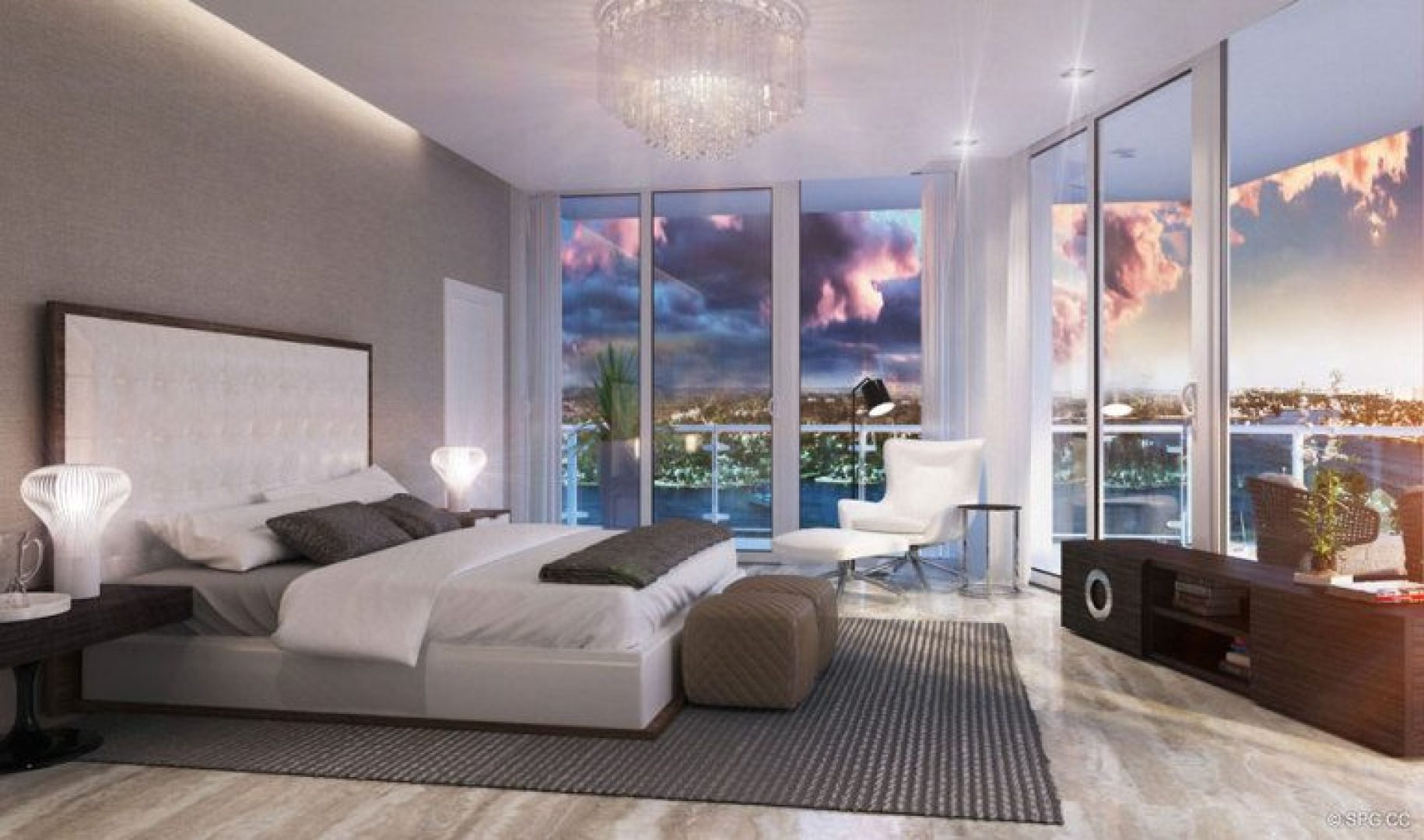 Bedroom Design at 33 Intracoastal, Luxury Waterfront Condominiums in Fort Lauderdale, Florida 33306