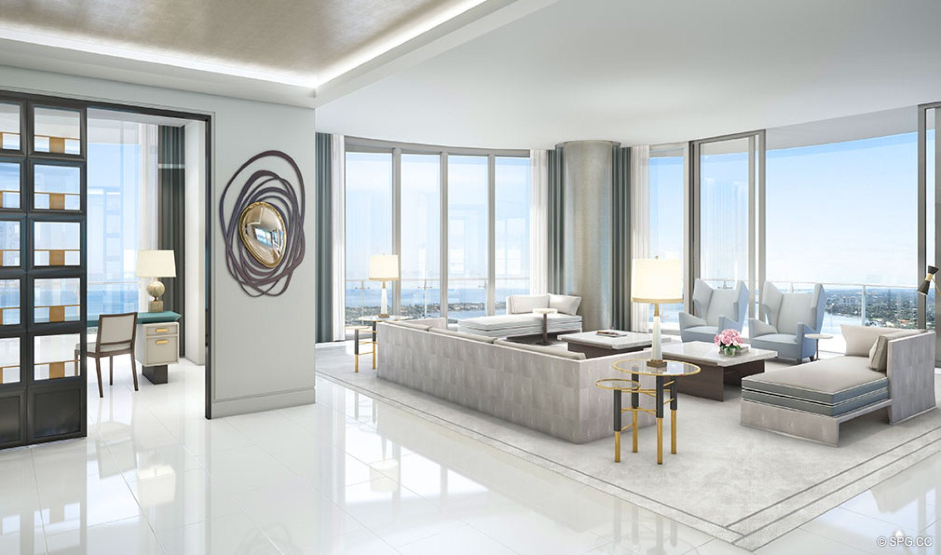 The bristol palm beach luxury waterfront condos in west for Interior design west palm beach