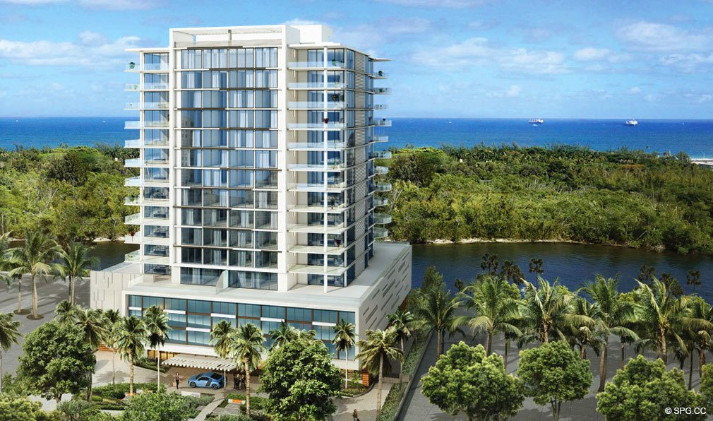 Rendering of AquaBlu, Luxury Waterfront Condos in Fort Lauderdale, Florida 33304