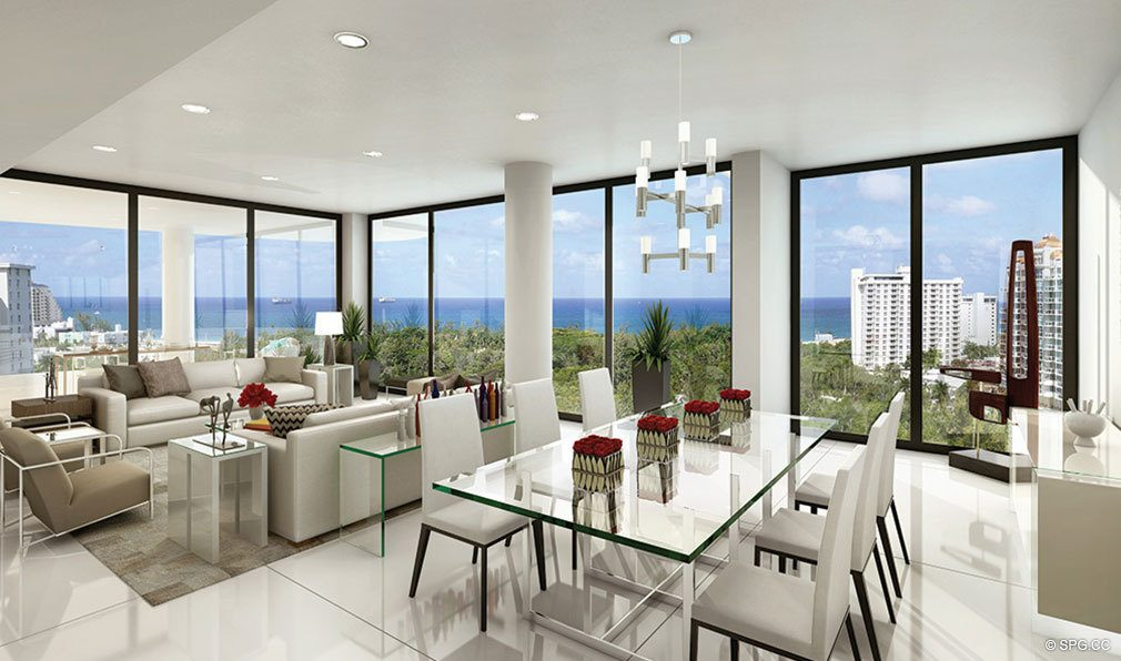 Interior Design Concept in AquaBlu, Luxury Waterfront Condos in Fort Lauderdale, Florida 33304