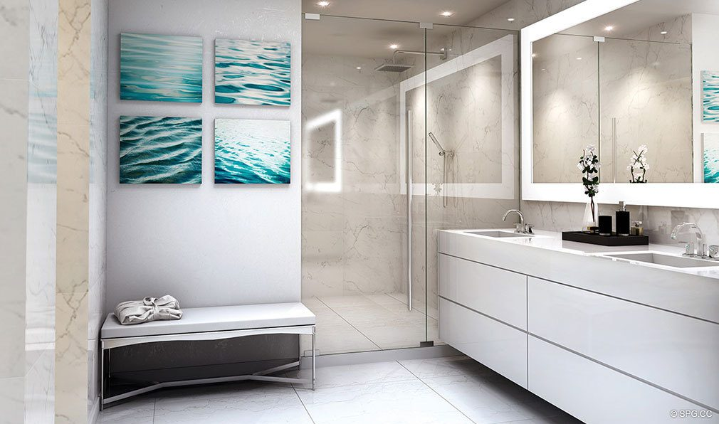 Relaxing Spa Spaces at AquaBlu, Luxury Waterfront Condos in Fort Lauderdale, Florida 33304