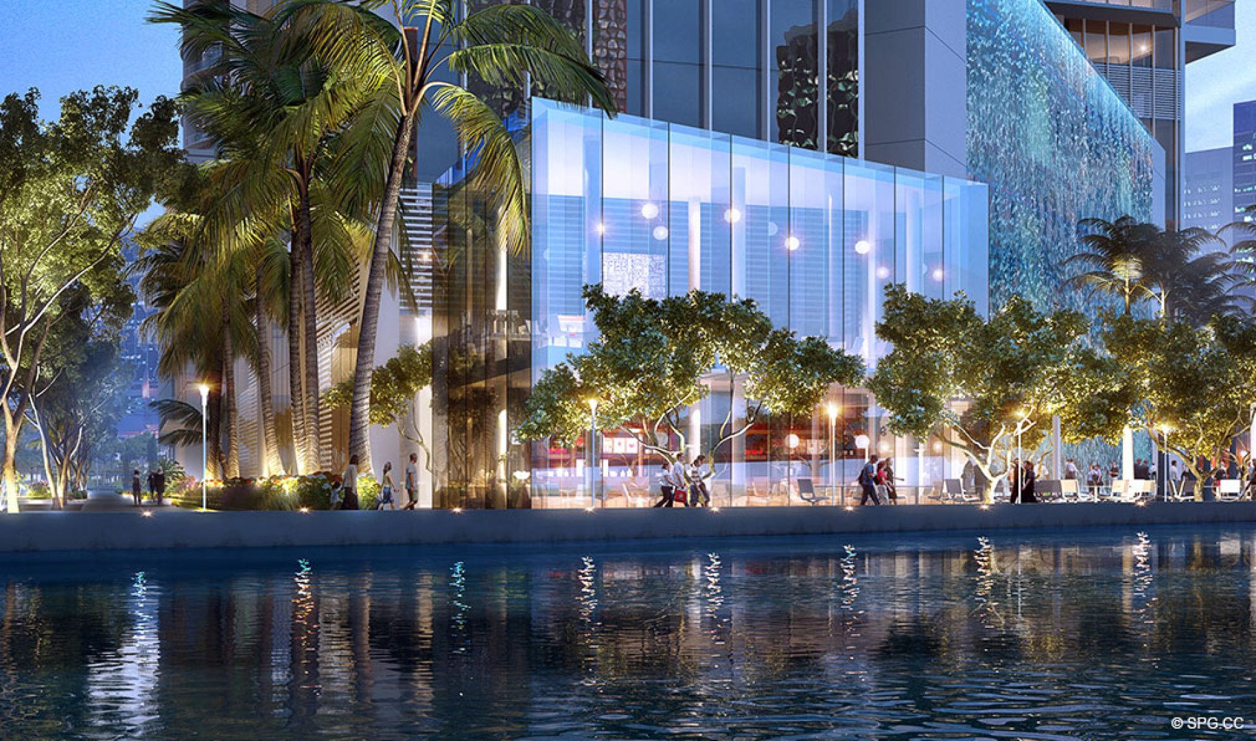 Waterfront Evenings at One River Point, Luxury Waterfront Condos in Miami, Florida 33130