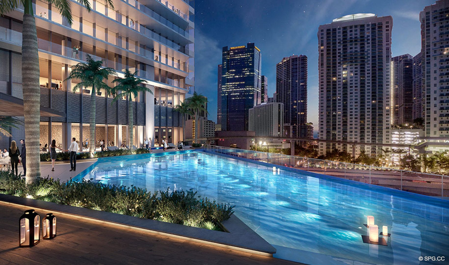 Spend Evenings Poolside at One River Point, Luxury Waterfront Condos in Miami, Florida 33130