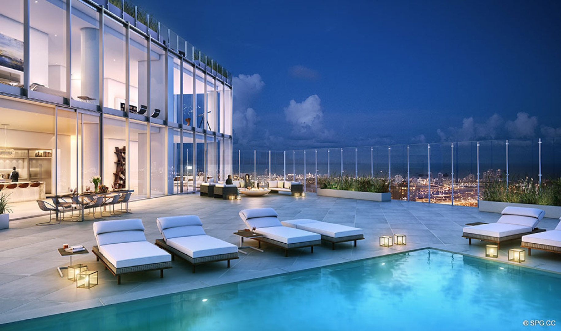 One river point luxury waterfront condos in miami for Luxury pool area