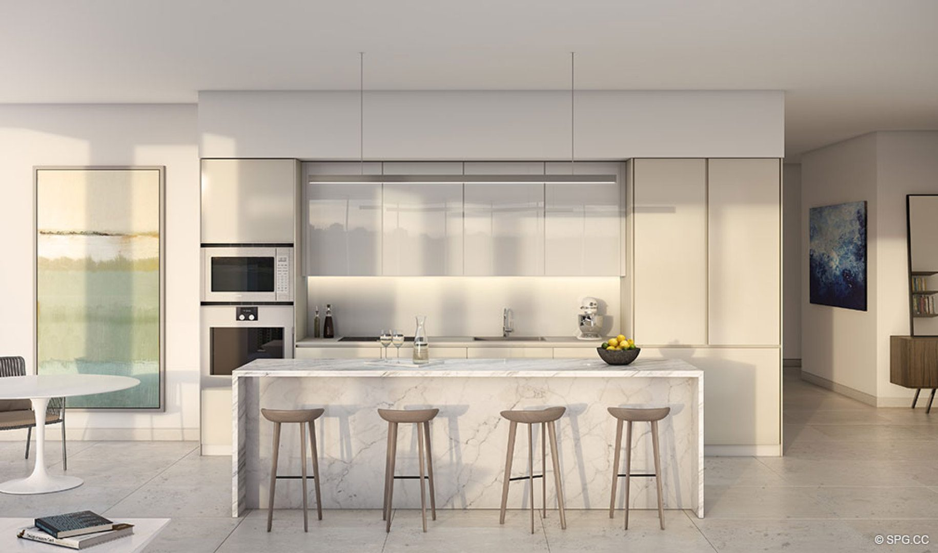 Gourmet Kitchen inside One River Point, Luxury Waterfront Condos in Miami, Florida 33130