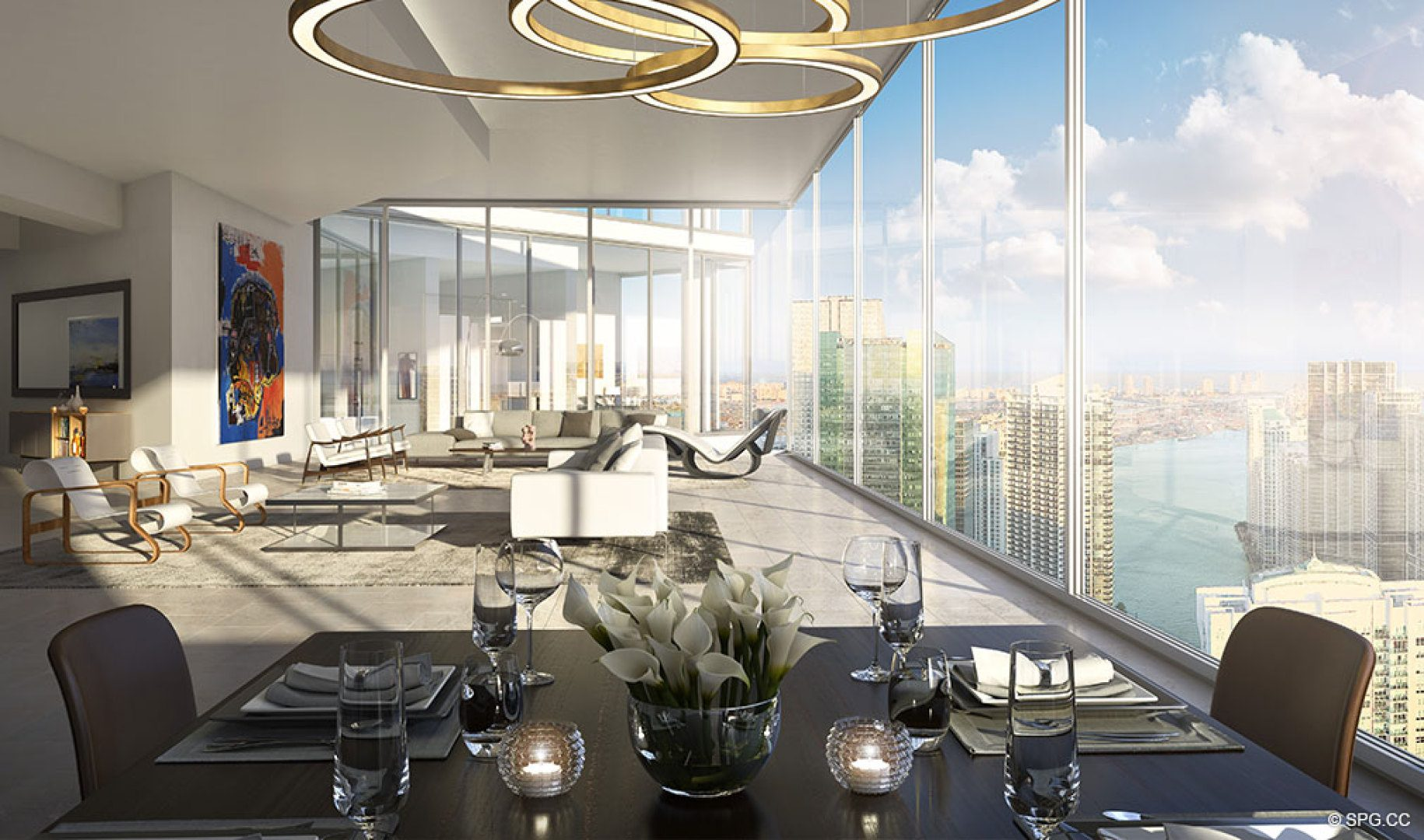 Residence Design at One River Point, Luxury Waterfront Condos in Miami, Florida 33130