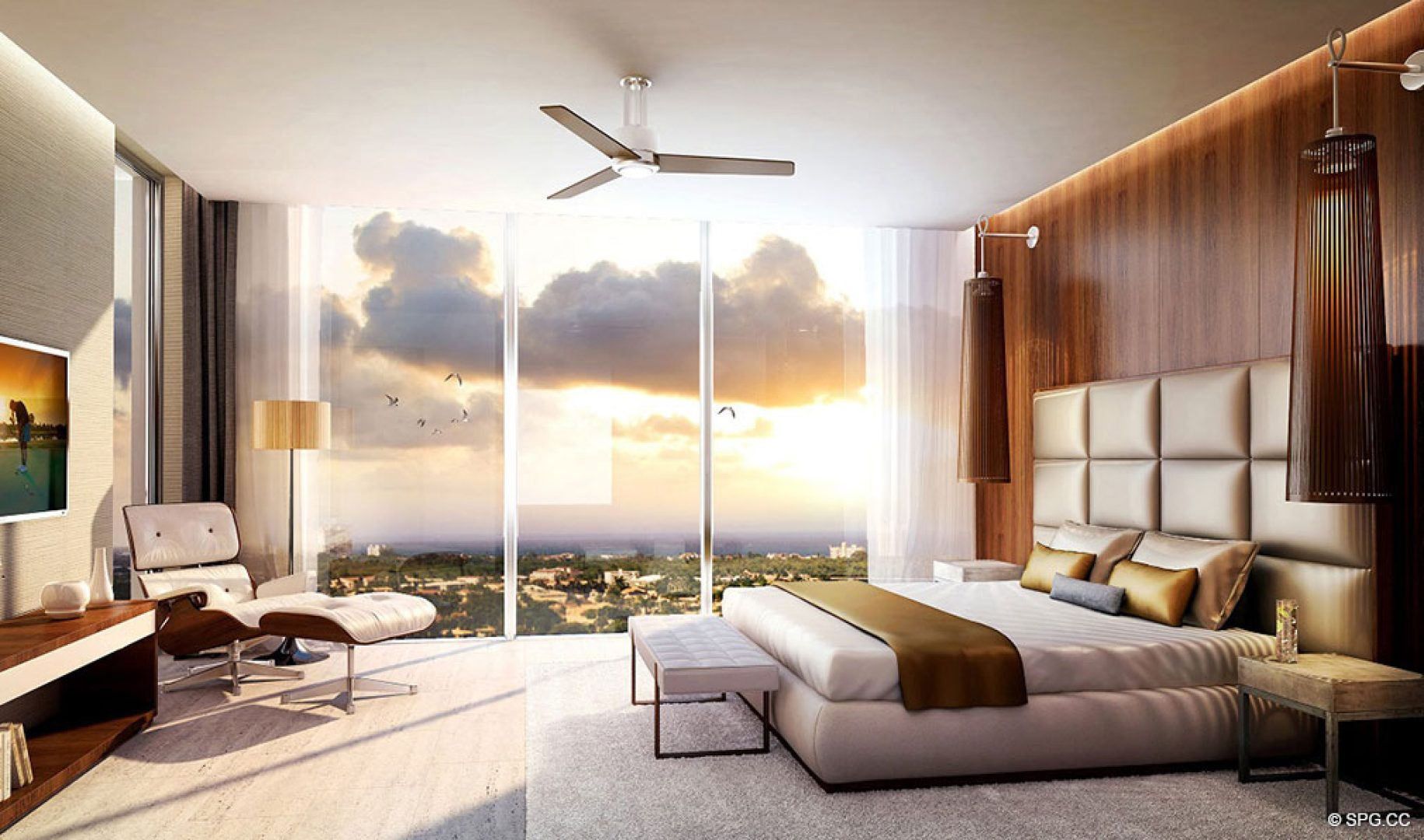 Exquisite Bedroom Suites inside AquaLuna Las Olas, Luxury Waterfront Condos in Fort Lauderdale, Florida 33301