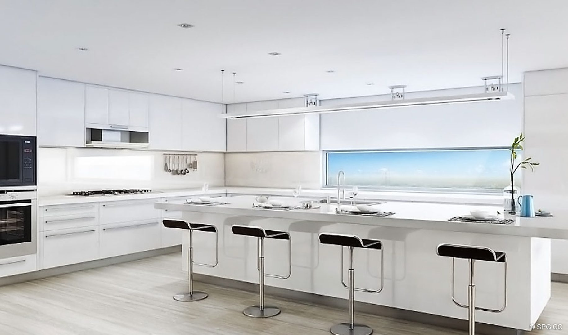 Gourmet Kitchens inside AquaLuna Las Olas, Luxury Waterfront Condos in Fort Lauderdale, Florida 33301