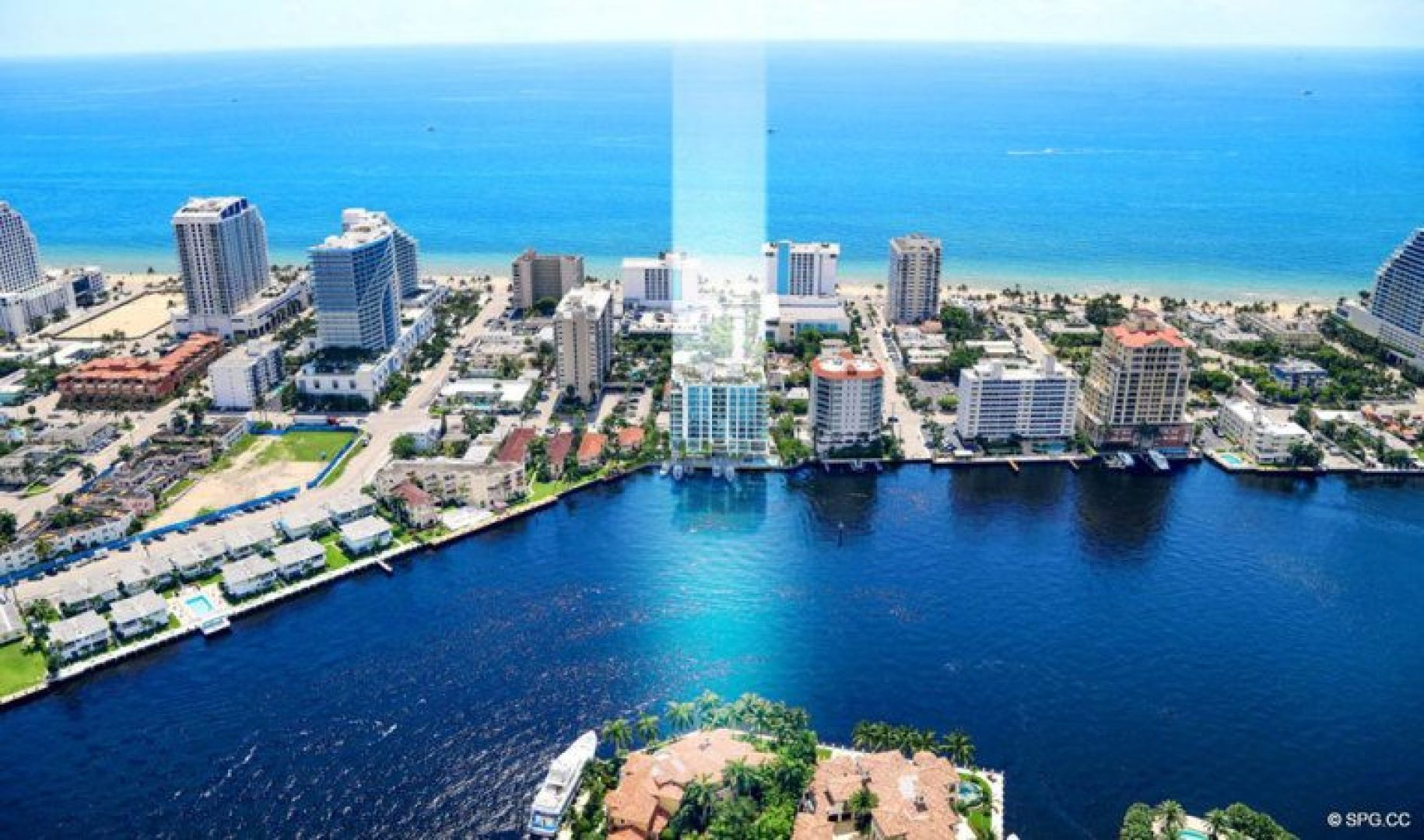 East View of 321 at Water's Edge, Luxury Waterfront Condos in Fort Lauderdale, Florida 33304