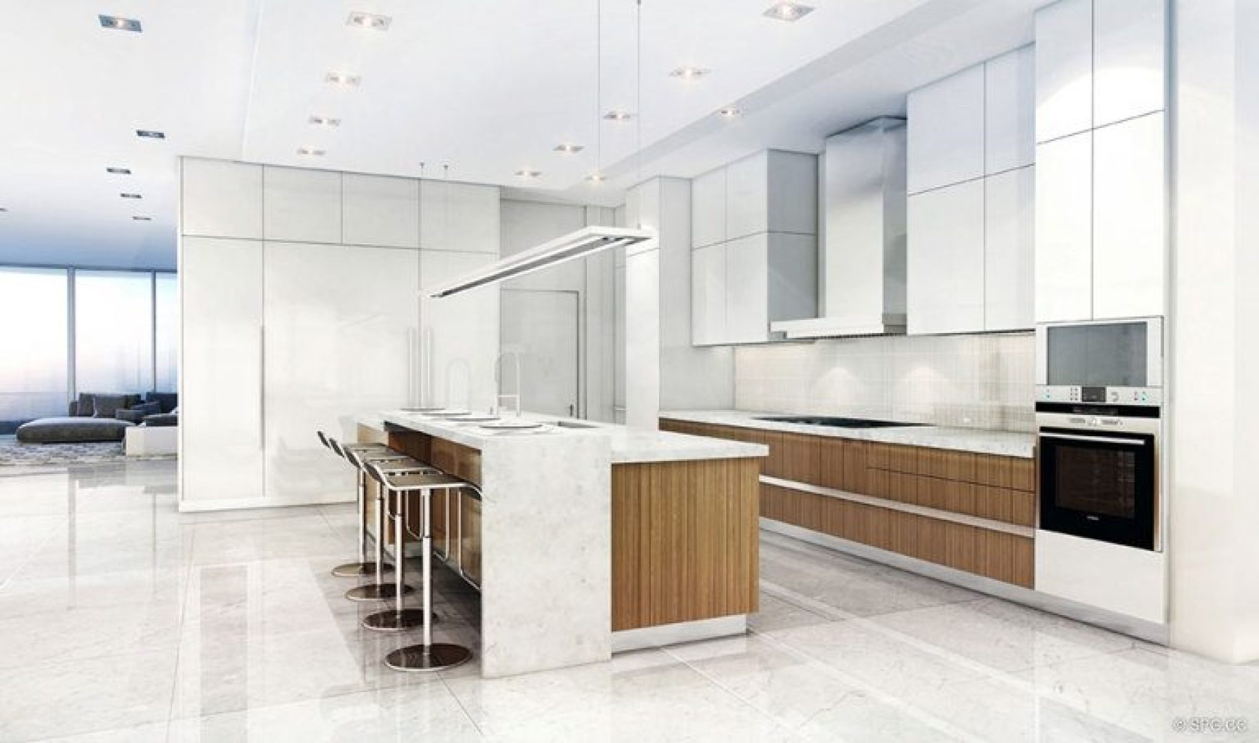 Gourmet Kitchens inside 321 at Water's Edge, Luxury Waterfront Condos in Fort Lauderdale, Florida 33304