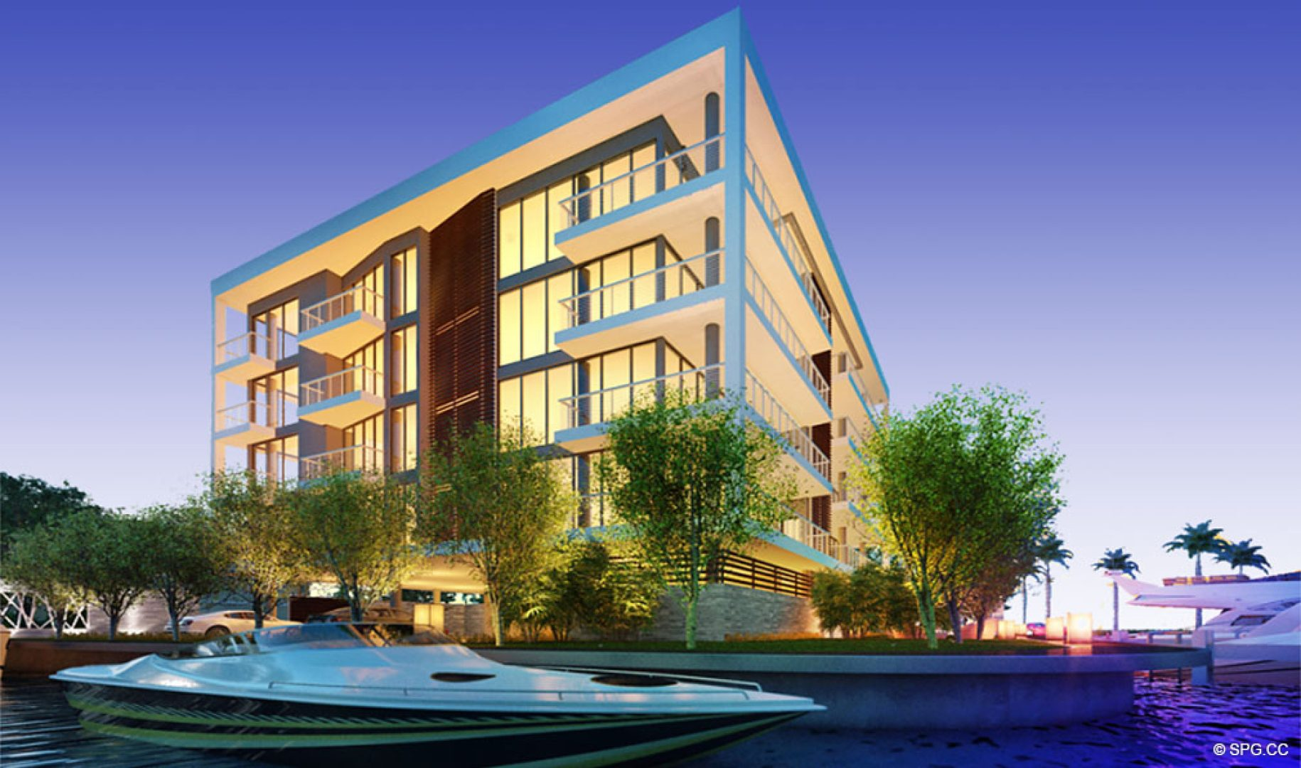 View of 1800 Las Olas from the Intracoastal, Luxury Waterfront Condos in Fort Lauderdale, Florida 33301