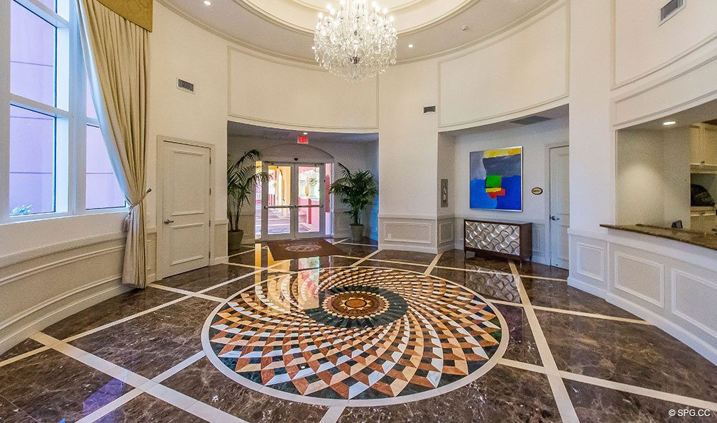 Tower I Lobby at The Palms, Luxury Oceanfront Condos in Fort Lauderdale 33305