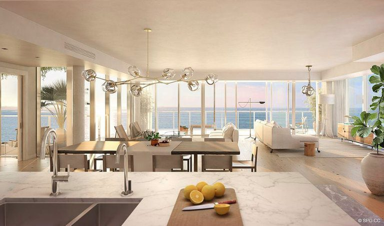 Gorgeous Open Living Spaces in 3550 South Ocean, Luxury Oceanfront Condos in Palm Beach, Florida 33480