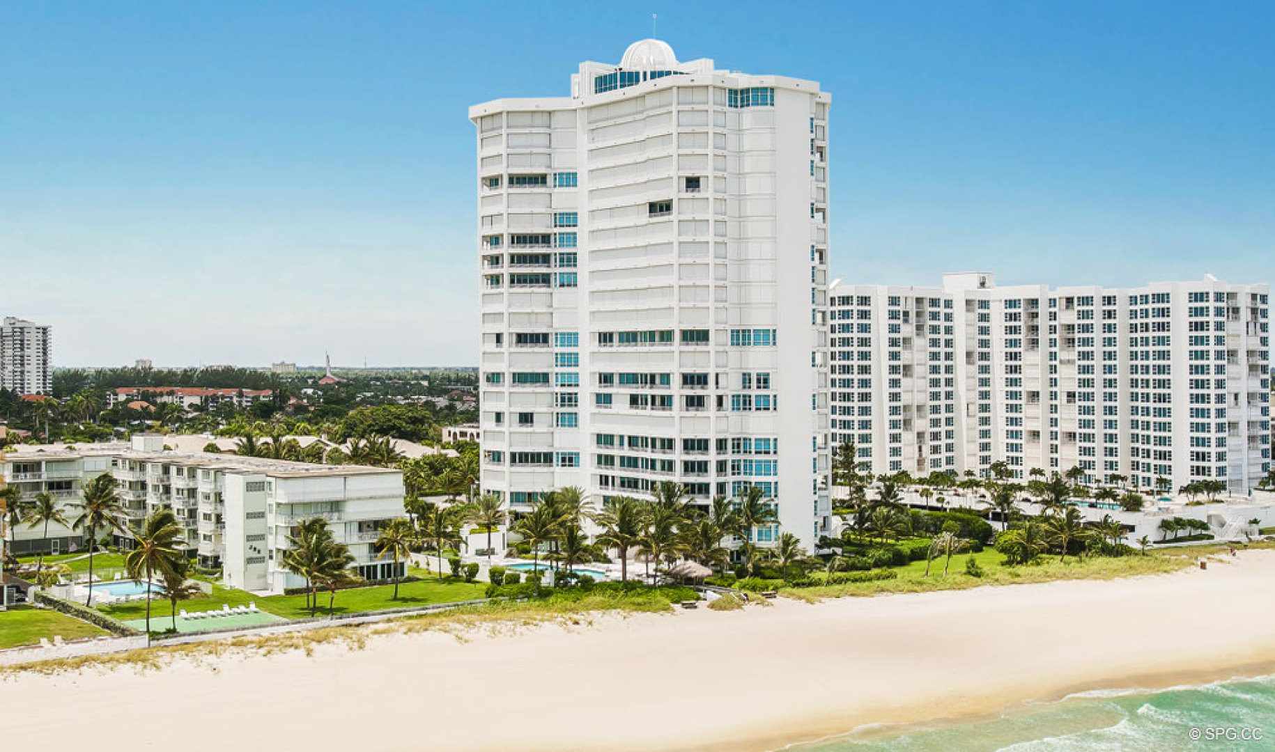Beach View Of Cristelle Luxury Oceanfront Condos In Lauderdale By The Sea Florida 33062