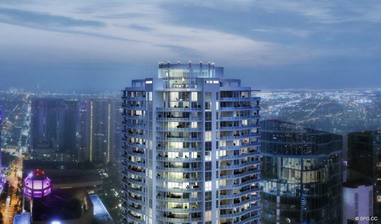 THe Tallest Building in Downtown, 100 Las Olas, Luxury Condos in Fort Lauderdale, Florida 33301