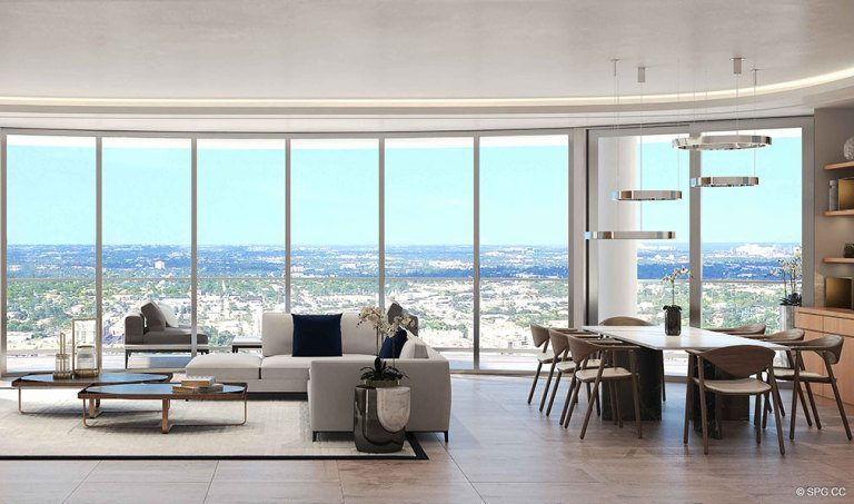 Superbly designed Floorplans in 100 Las Olas, Luxury Condos in Fort Lauderdale, Florida 33301