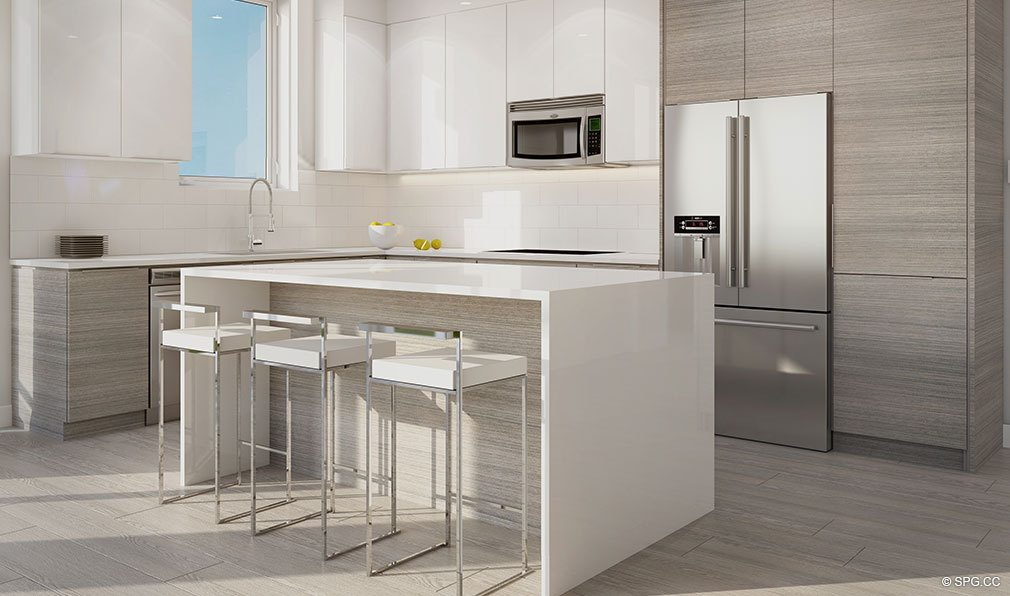 Customized Kitchens at Aura Pompano Beach, Luxury Seaside Condos in Pompano Beach, FL 33062