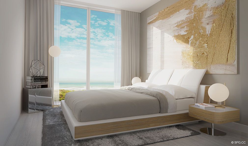 Guest Bedroom in Aura Pompano Beach, Luxury Seaside Condos in Pompano Beach, FL 33062