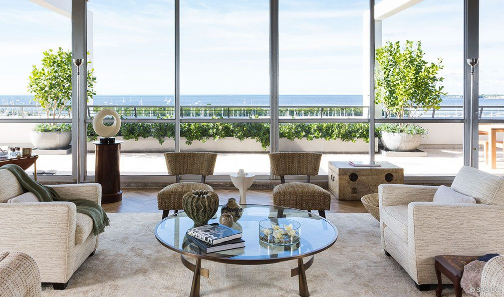 Living Room Views From Club Residences At Park Grove Luxury Waterfront Condos In Miami