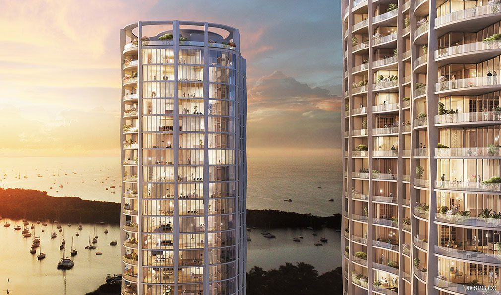 Twin Towers at Park Grove, Luxury Waterfront Condos in Miami, Florida 33133