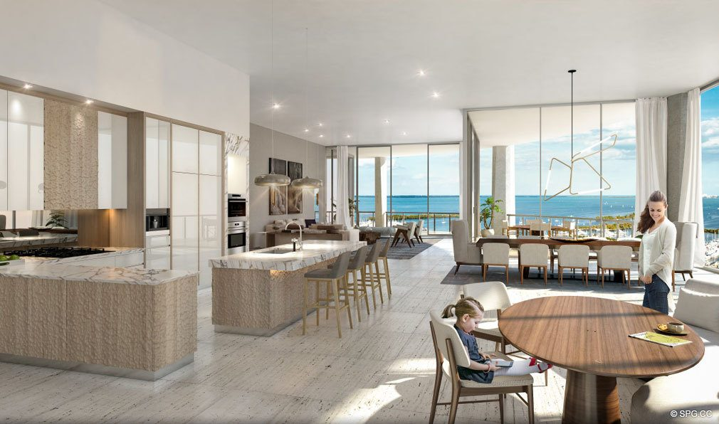 Large Open Floorplans at Park Grove, Luxury Waterfront Condos in Miami, Florida 33133