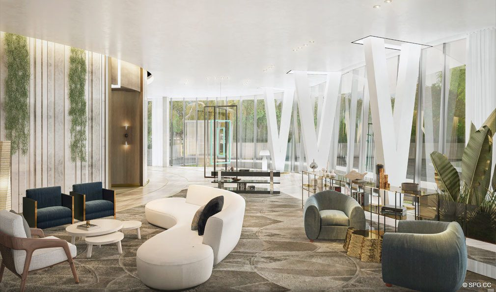 Luxurious Social Spaces at Park Grove, Luxury Waterfront Condos in Miami, Florida 33133