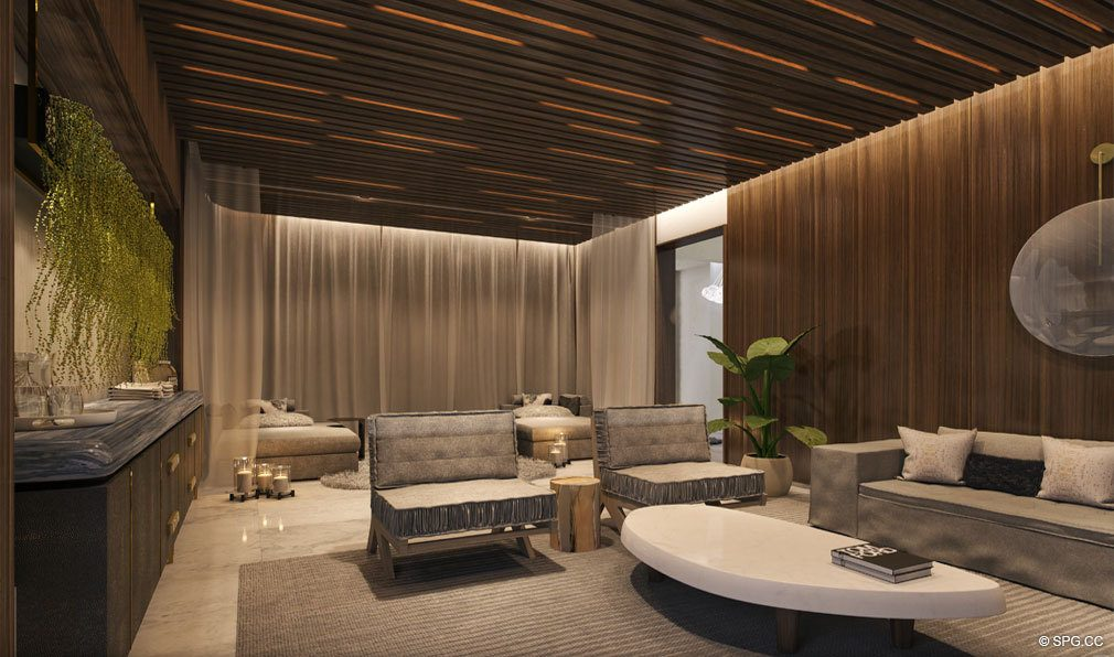 Club Room at Park Grove, Luxury Waterfront Condos in Miami, Florida 33133