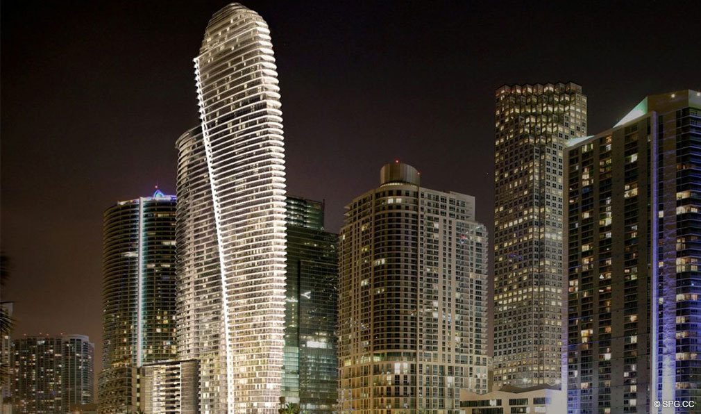 Evenings at Aston Martin Residences, Luxury Waterfront Condos in Miami, Florida 33131