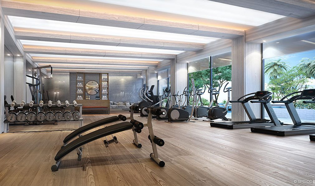 Fitness Center Inside Auberge Beach Residences Luxury Oceanfront Condos In Ft Lauderdale