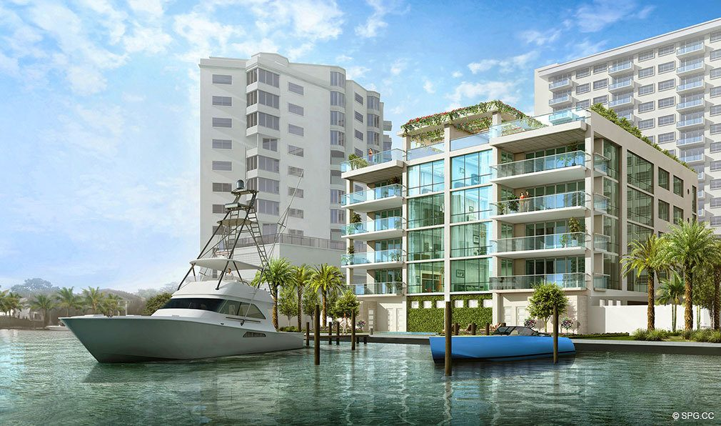 South Elevation View of 353 Sunset, Luxury Waterfront Condos in Fort Lauderdale, Florida 33301