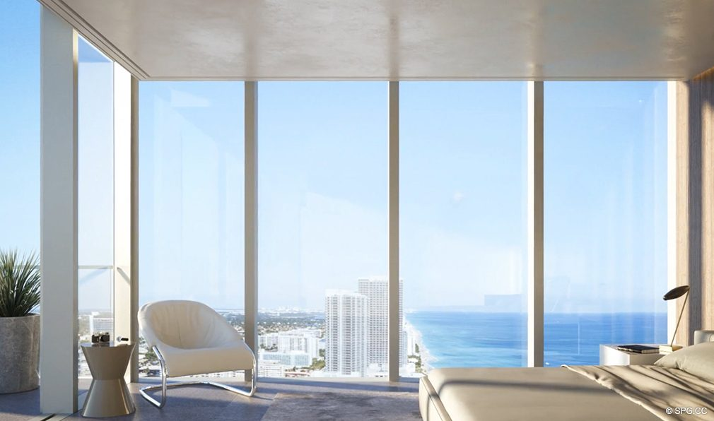 Stunning Master Suite Views from 2000 Ocean, Luxury Oceanfront Condos in Hallandale Beach, Florida 33009