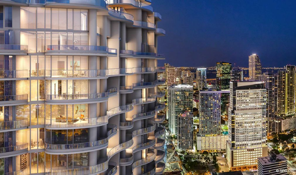 Terrace Views of Miami from Brickell Flatiron, Luxury Condos in Miami, Florida 33130