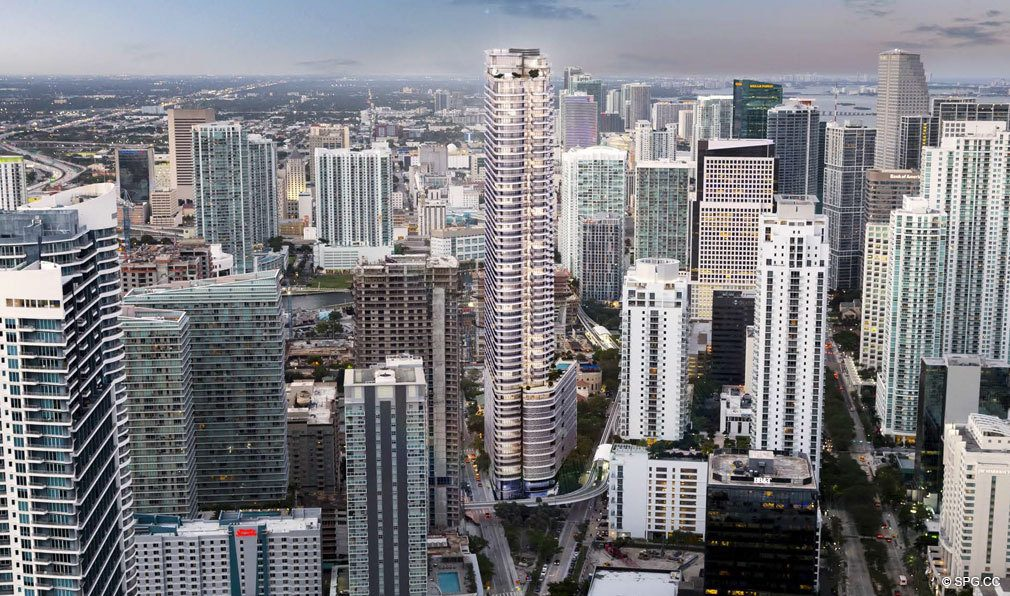 Located in the Heart of Miami, Brickell Flatiron, Luxury Condos in Miami, Florida 33130