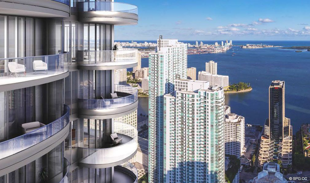 Soaring Views from Brickell Flatiron, Luxury Condos in Miami, Florida 33130