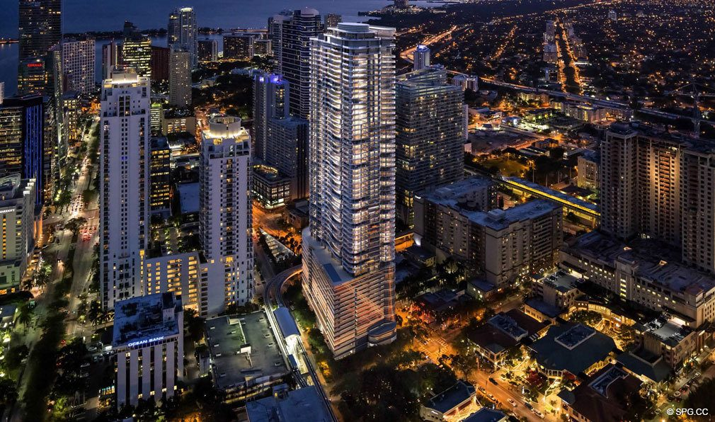 Vibrant Nights at Brickell Flatiron, Luxury Condos in Miami, Florida 33130