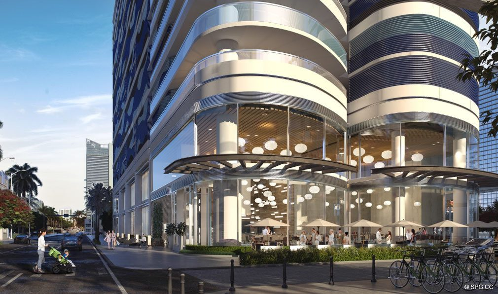 Street View of Brickell Flatiron, Luxury Condos in Miami, Florida 33130