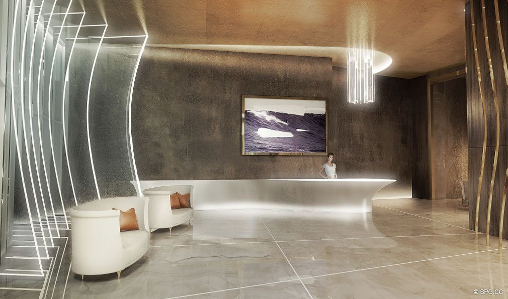 Lobby Interior at Brickell Flatiron, Luxury Condos in Miami, Florida 33130