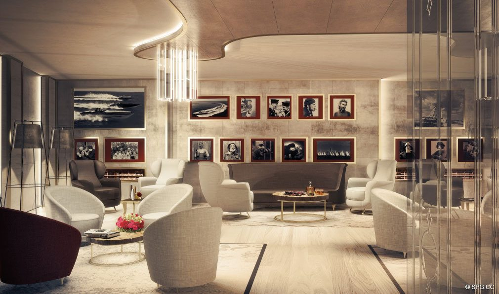 Club Room at Brickell Flatiron, Luxury Condos in Miami, Florida 33130