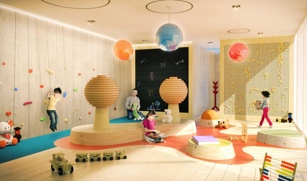Children's Playroom at Brickell Flatiron, Luxury Condos in Miami, Florida 33130