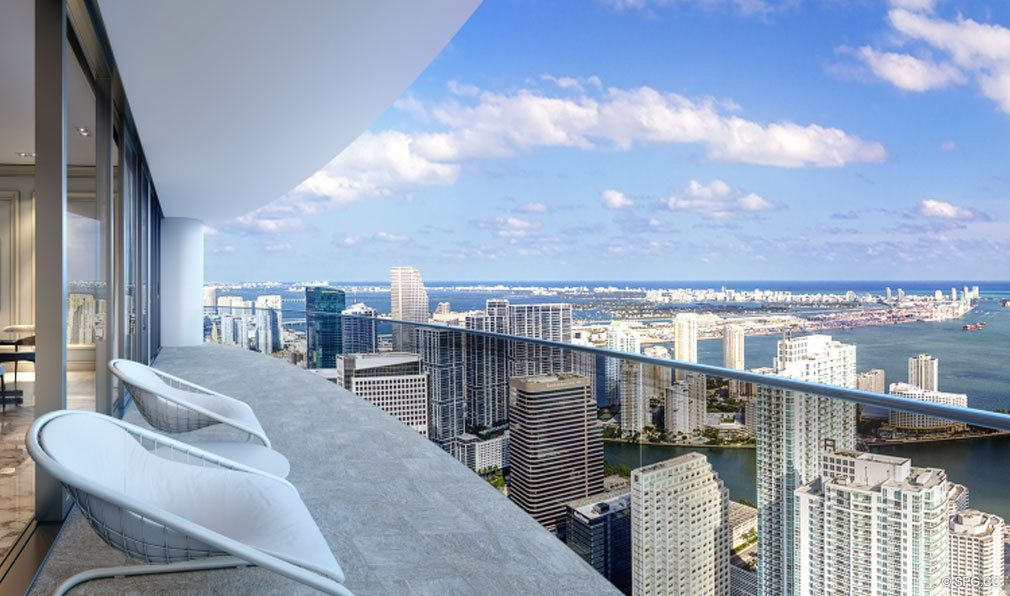 Gorgeous Residence Terrace Views from Brickell Flatiron, Luxury Condos in Miami, Florida 33130