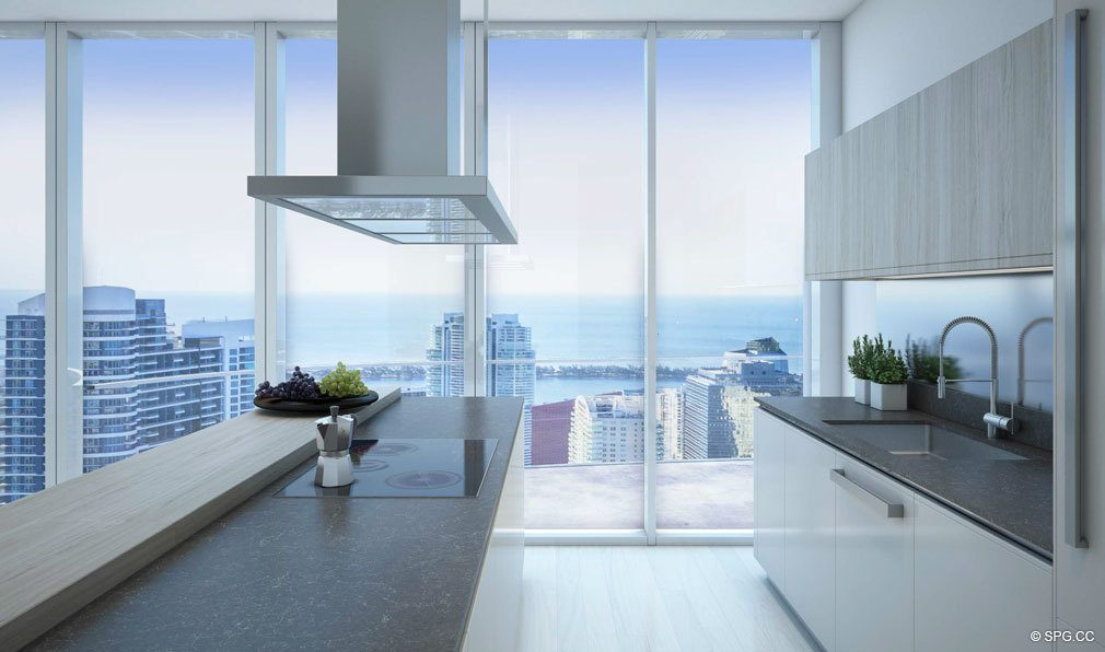 Gourmet Kitchens inside Brickell Flatiron, Luxury Condos in Miami, Florida 33130