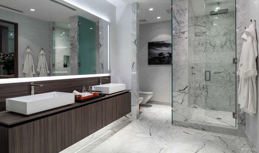 Relaxing Luxurious Master Baths in Brickell Flatiron, Luxury Condos in Miami, Florida 33130