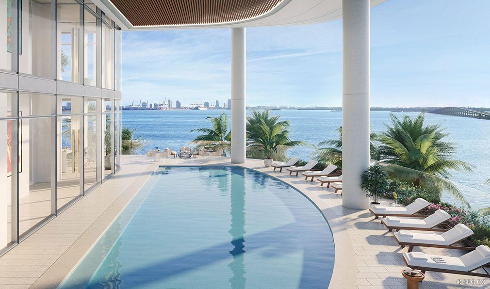 Third Level Pool Deck at Una Residences, Luxury Waterfront Condos in Miami, Florida, Florida 33129