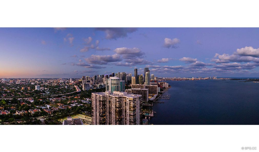 Panoramic Northern Views from Una Residences, Luxury Waterfront Condos in Miami, Florida, Florida 33129